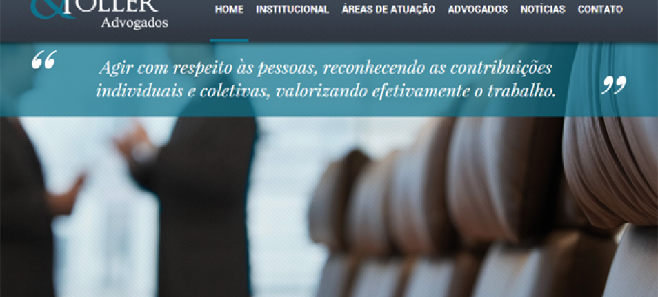 A nova cara da Tortoro & Toller na web