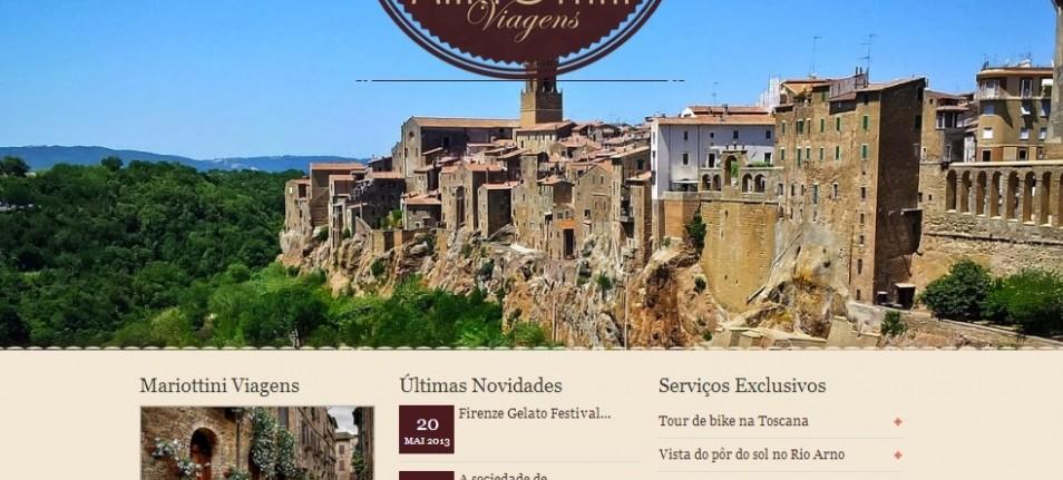 Mariottini Viagens: mais um site criado pela Alta Digital