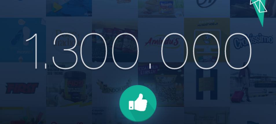 Mais de 1 Milhão de Fãs no Facebook