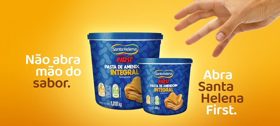 Pasta de Amendoim Santa Helena First voltou ao mercado com nova embalagem.