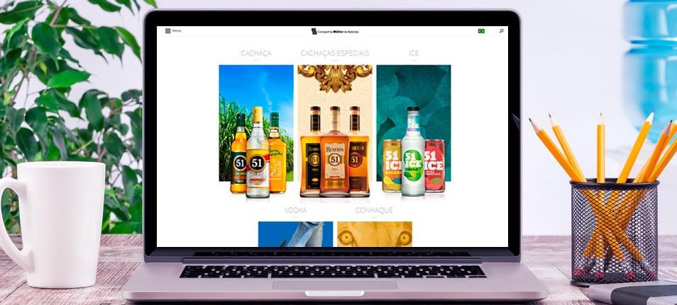 Alta desenvolve novo site para a Companhia Müller de Bebidas