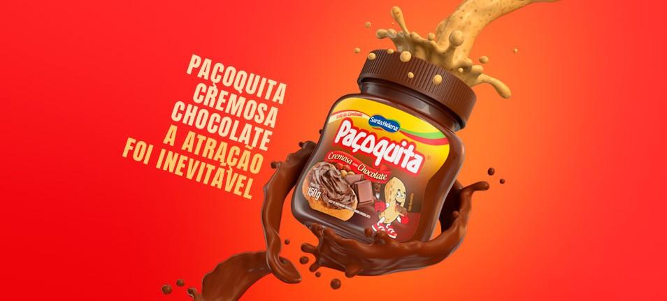 Paçoquita Cremosa Chocolate chega ao mercado com campanha de lançamento desenvolvida pela Alta